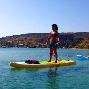 vie teaching paddle board yoga  greece