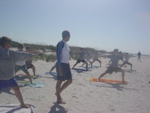 Yoga Energy's Tim teaching yoga