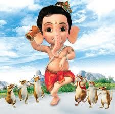 ganesha boy and rat