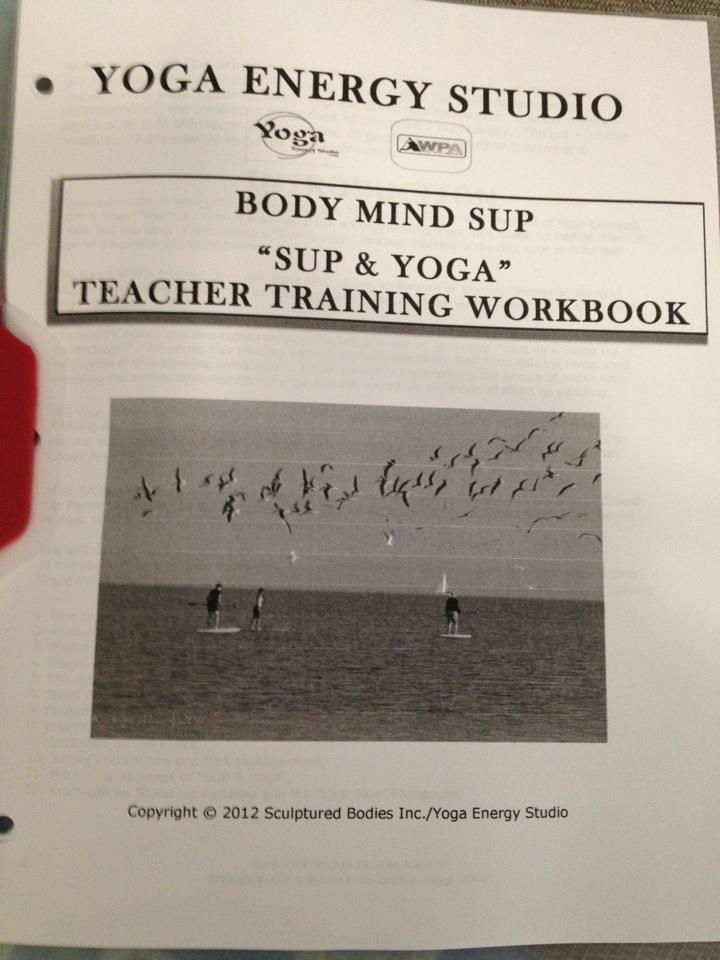 STAND UP PADDLE AND YOGA WORKBOOK