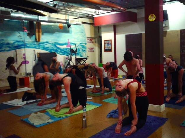 Camel pose at Yoga Energy Studio