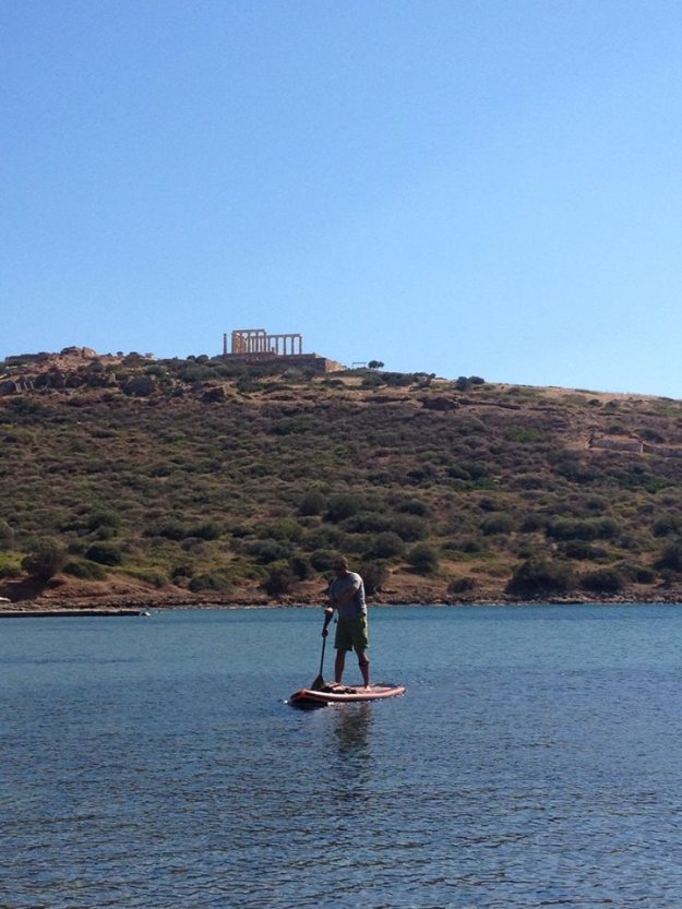 tim paddling at poseidon's temple