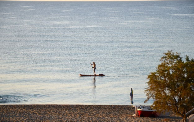 Mornings are great for paddling in Mavrovouni.