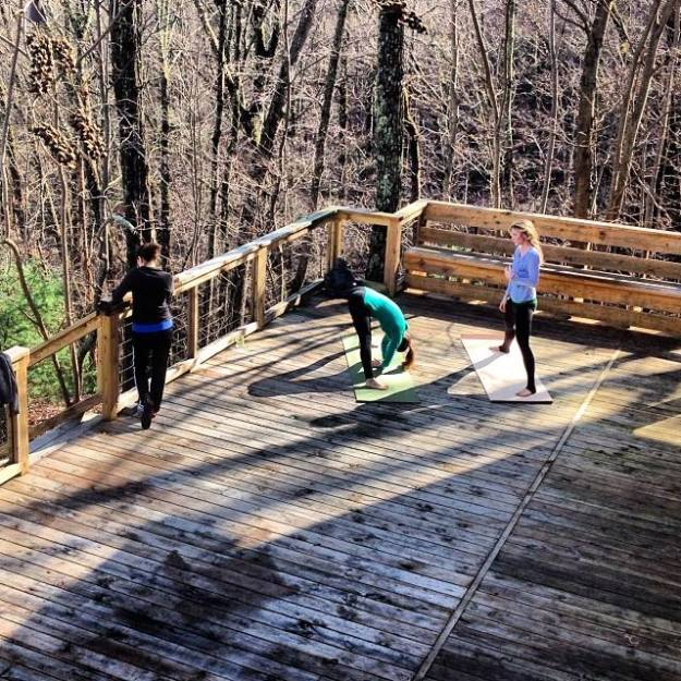 yoga therapy on mount yonah