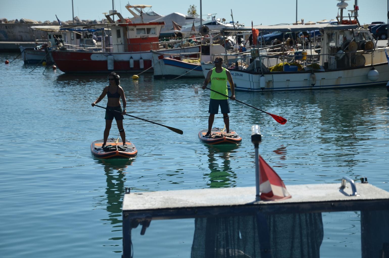 Paddling Platamonas, Greece