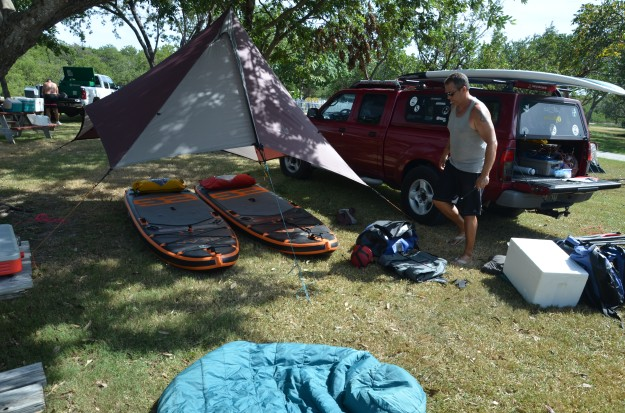 stand up paddle camping trip sugarloaf key